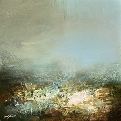 Summer Rain Study by Neil Nelson - Original Painting on Box Canvas sized 10x10 inches. Available from Whitewall Galleries
